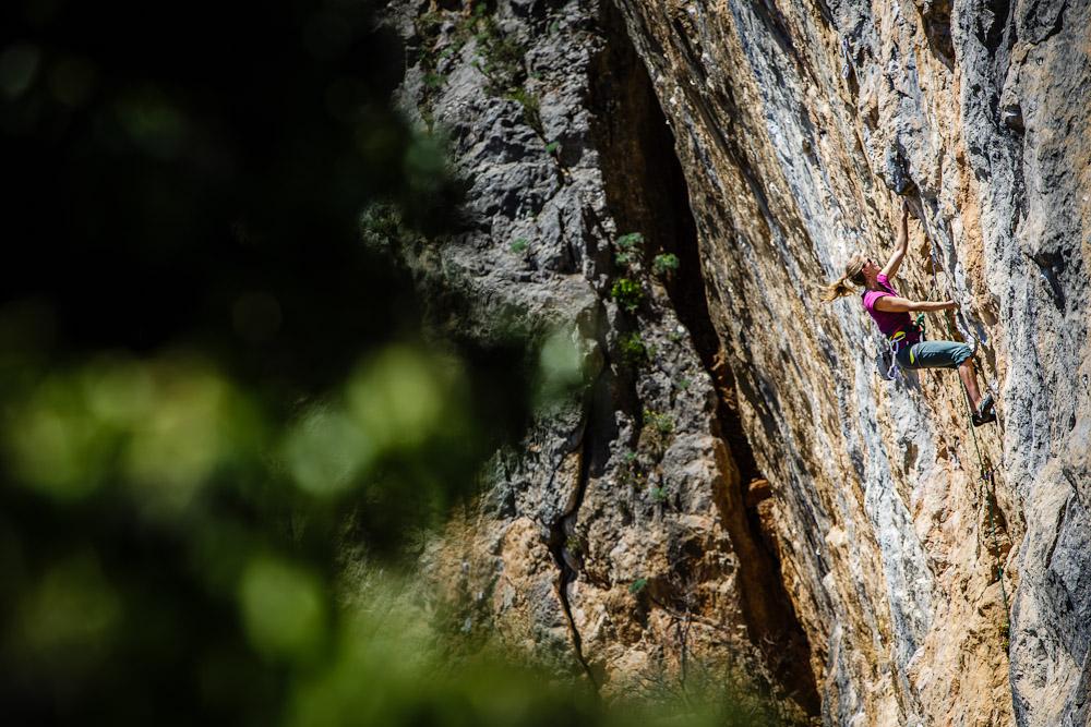warming up at Nakita... just another super fun limestone crag...