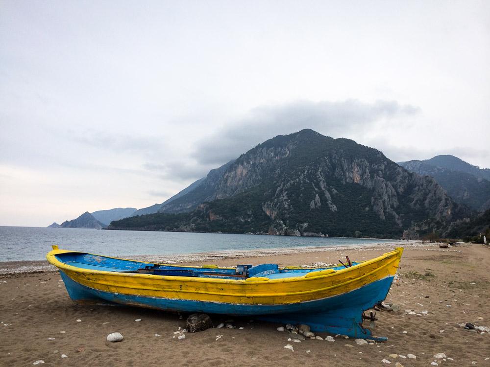 a boat at olympus