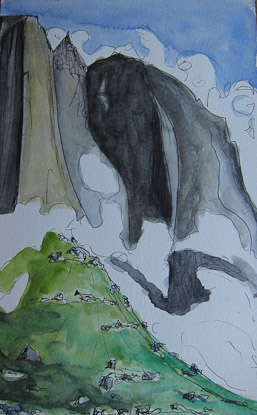 Ula pen and watercolor, Greenland